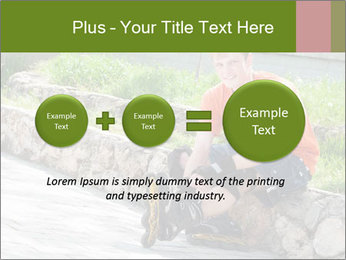 Handsome smiling PowerPoint Template - Slide 75