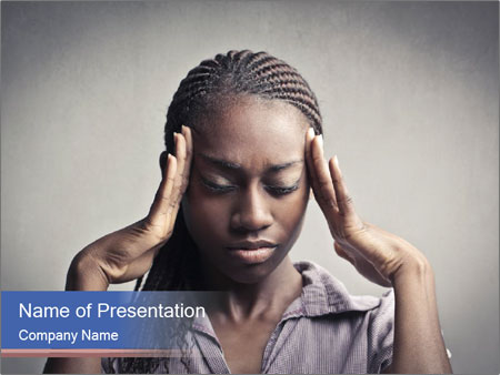 African woman PowerPoint Template