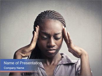 African woman PowerPoint Template - Slide 1