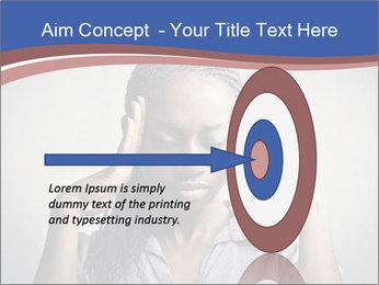 African woman PowerPoint Template - Slide 83