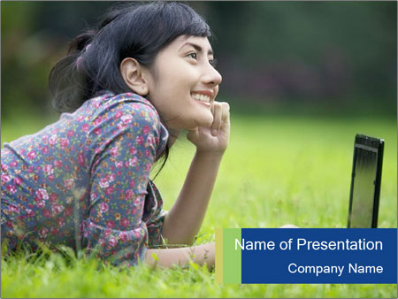 Smiling businesswoman PowerPoint Template