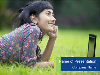 Smiling businesswoman PowerPoint Template - Slide 1