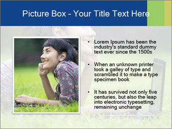 Smiling businesswoman PowerPoint Template - Slide 13
