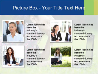 Smiling businesswoman PowerPoint Template - Slide 14