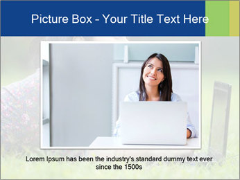 Smiling businesswoman PowerPoint Template - Slide 16