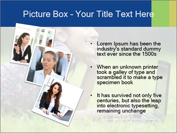 Smiling businesswoman PowerPoint Template - Slide 17