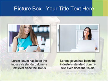 Smiling businesswoman PowerPoint Template - Slide 18
