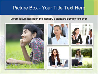 Smiling businesswoman PowerPoint Template - Slide 19