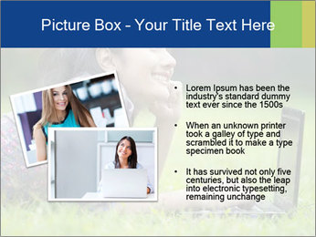 Smiling businesswoman PowerPoint Template - Slide 20