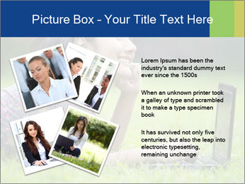 Smiling businesswoman PowerPoint Template - Slide 23