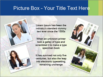 Smiling businesswoman PowerPoint Template - Slide 24