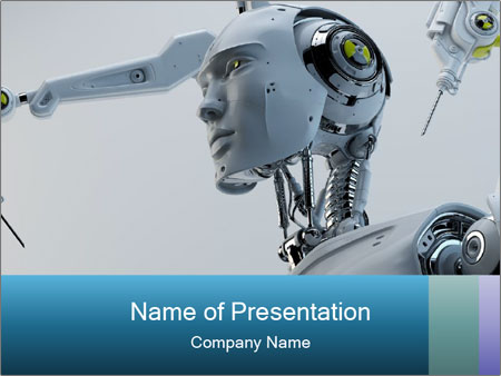 Futuristic robot PowerPoint Template
