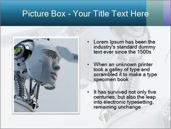 Futuristic robot PowerPoint Templates - Slide 13