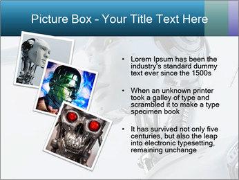 Futuristic robot PowerPoint Templates - Slide 17