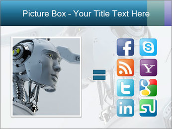 Futuristic robot PowerPoint Templates - Slide 21