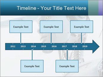 Futuristic robot PowerPoint Templates - Slide 28