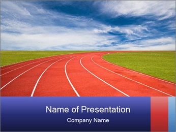 Running track PowerPoint Template - Slide 1