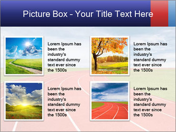 Running track PowerPoint Template - Slide 14