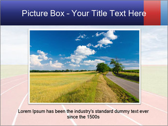Running track PowerPoint Template - Slide 16