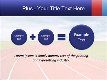 Running track PowerPoint Template - Slide 75