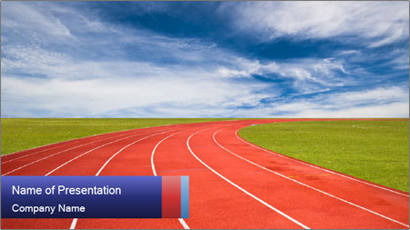 Running track PowerPoint Template