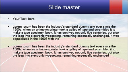 Running track PowerPoint Template - Slide 2