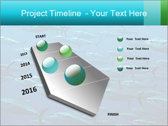 Group of giant tuna PowerPoint Template - Slide 26