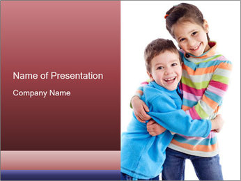 Funny kids PowerPoint Template