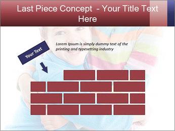 Funny kids PowerPoint Template - Slide 46