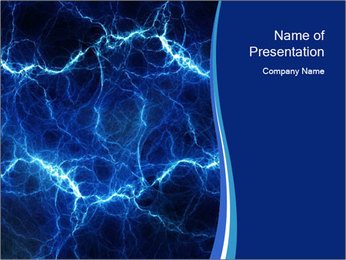 Blue fantasy PowerPoint Template - Slide 1