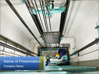 Two machinist worker PowerPoint Template - Slide 1