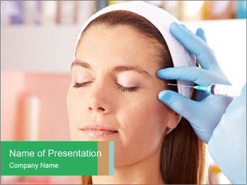 Woman in beauty clinic PowerPoint Template - Slide 1