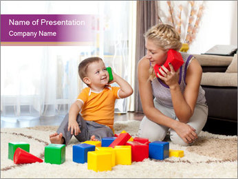 Cute mother PowerPoint Template