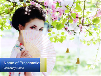 Asian style PowerPoint Template - Slide 1
