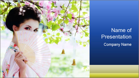 Asian style PowerPoint Template