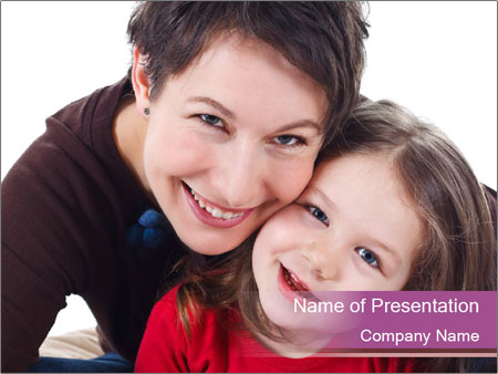 A smiling mother PowerPoint Template
