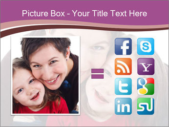 A smiling mother PowerPoint Template - Slide 21