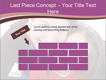 A smiling mother PowerPoint Template - Slide 46