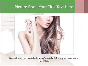 Young beautiful girl PowerPoint Template - Slide 15