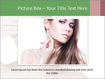 Young beautiful girl PowerPoint Template - Slide 16