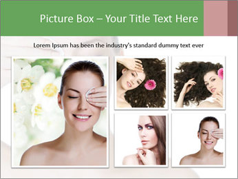 Young beautiful girl PowerPoint Template - Slide 19