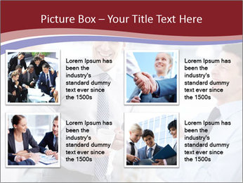 Portrait of happy businessmen PowerPoint Template - Slide 14