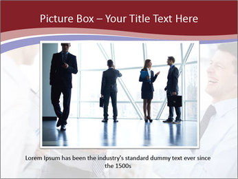 Portrait of happy businessmen PowerPoint Template - Slide 15