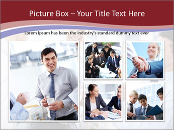 Portrait of happy businessmen PowerPoint Template - Slide 19
