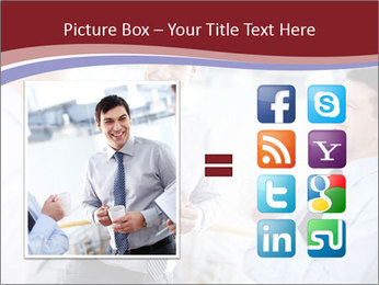 Portrait of happy businessmen PowerPoint Template - Slide 21