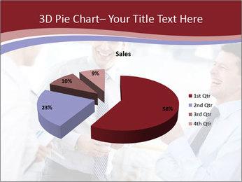 Portrait of happy businessmen PowerPoint Templates - Slide 35