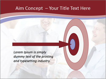 Portrait of happy businessmen PowerPoint Template - Slide 83
