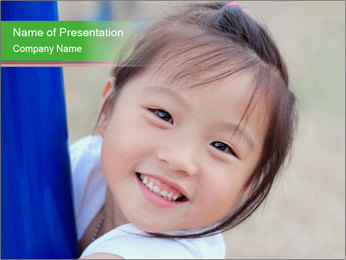 Smile asian girl PowerPoint Template - Slide 1