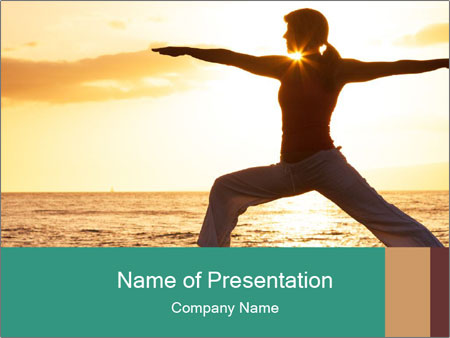 Beautiful Yoga PowerPoint Template