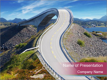 Norway sea landscape PowerPoint Template